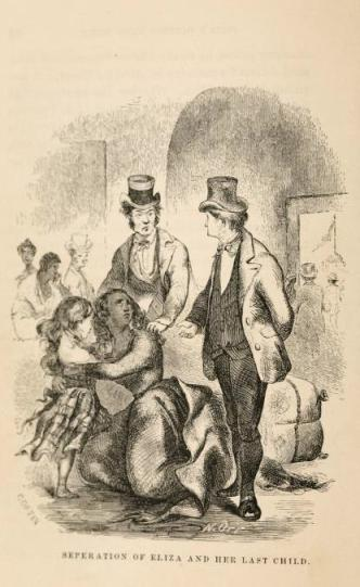 'Separation of Eliza and her last child', taken from Northup, Twelve Years a Slave, p.85.