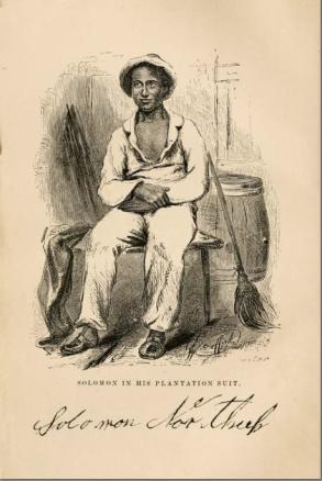 Frontispiece for Solomon Northup, Twelve years a slave. Narrative of Solomon Northup, a citizen of New-York, kidnapped in Washington city in 1841, and rescued in 1853, from a cotton plantation near the Red River in Louisiana (New York: C. M. Saxton 1859).