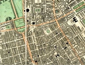 1826 Map of Bloomsbury, Western Segment