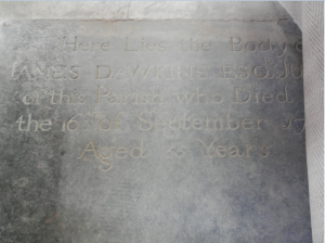 The Grave of James Dawkins, St. Paul's Anglican Church, Chapelton, Clarendon