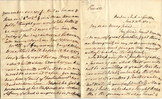 Wilberforce to Smith, 30/01/1822